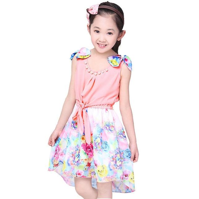 5bc93be8cfe7 Hot selling!2016 Girl Summer Chiffon Dress Girls Floral Princess ...