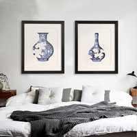 Chinesischen Zen stil massivholz dekorative malerei Einfache moderne wohnzimmer malerei restaurant Xiangyun Blau und Weiß Porzellan