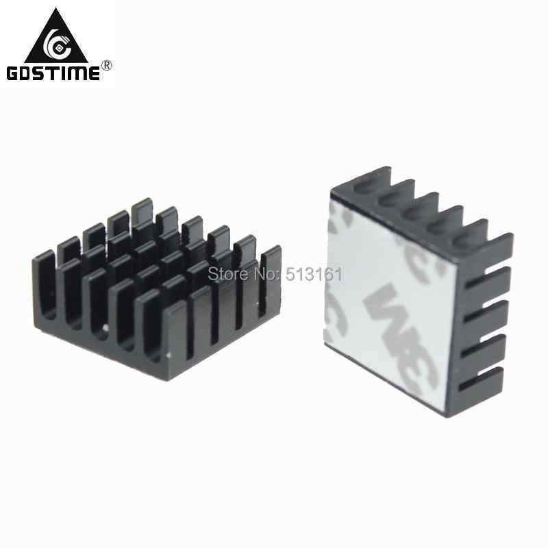 Купить с кэшбэком 5PCS Gdstime Heatsink CPU GPU IC Memory Chip Aluminum Heat Sink 22x22x10mm Extruded Cooler Cooling Fin