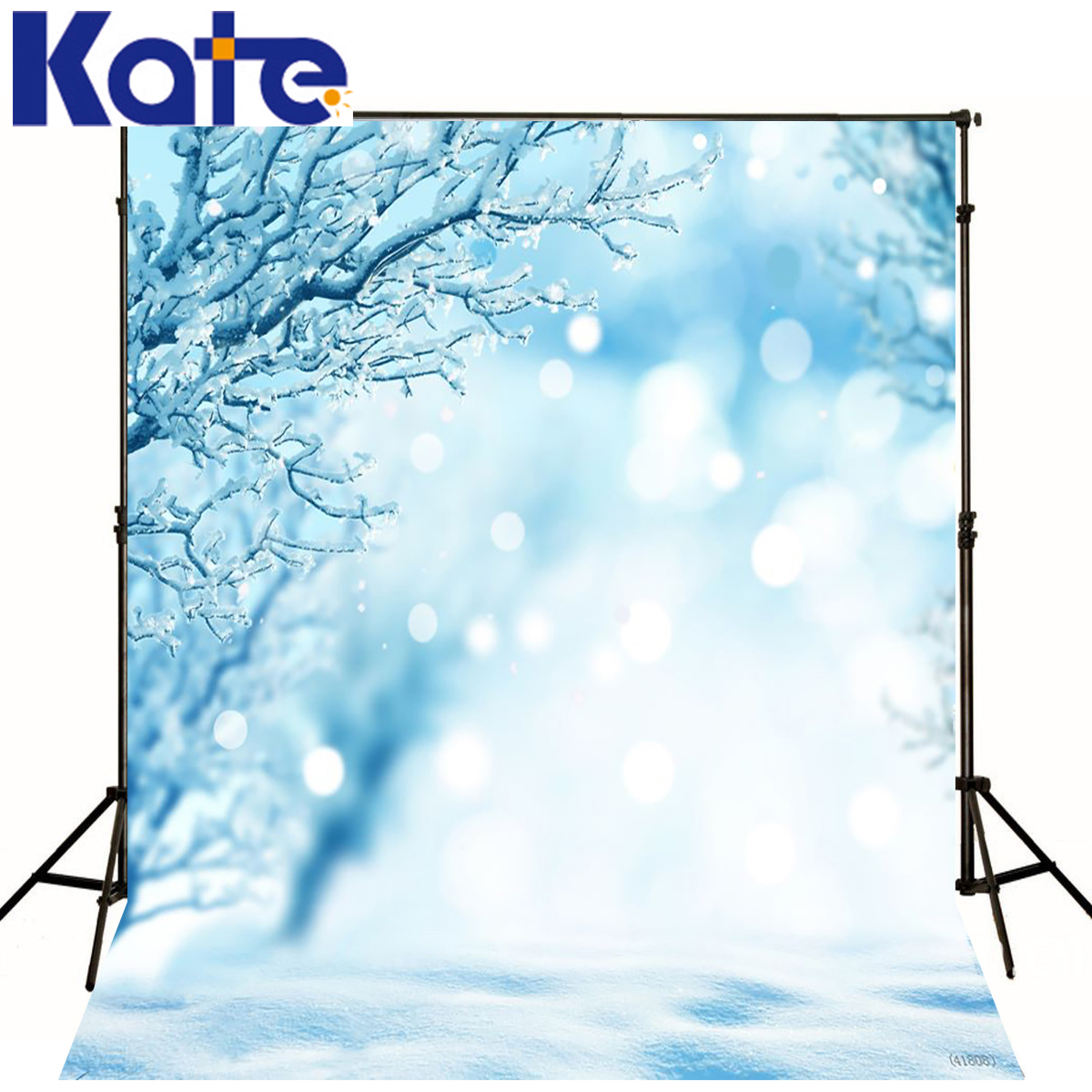 Kate Background Fotografia Blue World Snow In Branch Scenery Backdrops Spot Snow Floor Photography Background For Studio