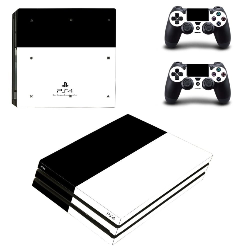 Ps4 Slim Sticker Console Decal Playstation 4 Controller Vinyl Skin White Video Game Accessories