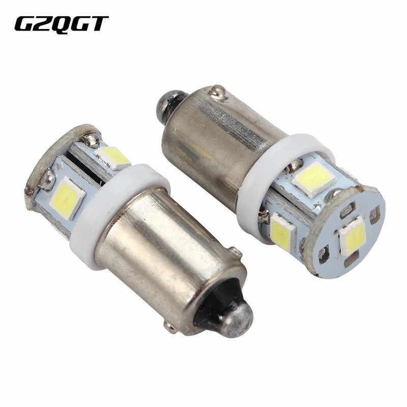 1 × 6 V 6.3 V 8!! 超高輝度 AC BA9S 2835 5 SMD 車の Led ライトインテリア電球白青赤黄逆ライト読書ランプ