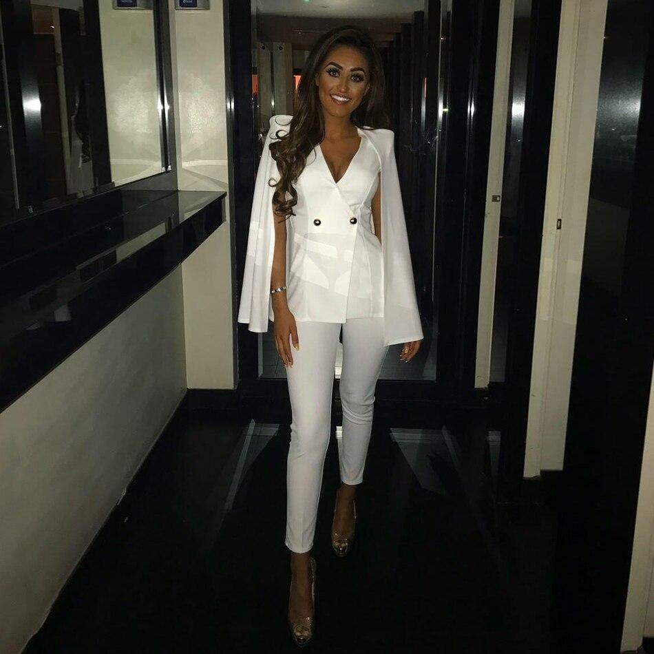 Femmes Haute V Moulante Body Profond Col souris Noir blanc Sexy Salopette Qualité Automne Manches 2018 Chauve Blanc Sans De Noir vrTrEza