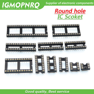 10PCS Round Hole IC socket Connector DIP 6 8 14 16 18 20 24 28 pin Sockets DIP6 DIP8 DIP14 DIP16 DIP18 DIP20 DIP24 DIP28 DIP-8