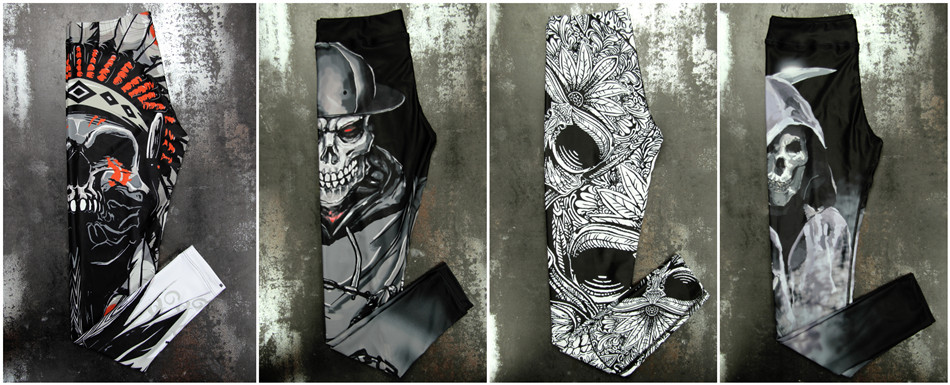 Leggings skull faucheuse