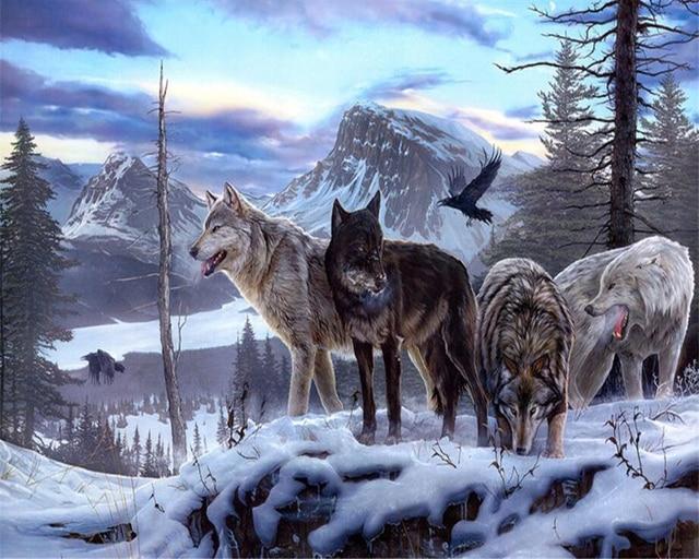 Beibehang papel pintado personalizado Lobo lobos espíritu