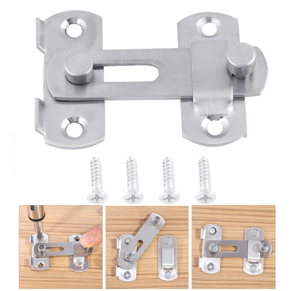 2PCS S.S Padlock Hasp Lock Door Clasp Latch for Fastening Cabinet Box Door Trunk