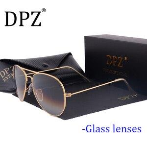 Image 1 - 2020 DPZ szklane soczewki gradientu kobiet okulary mężczyźni 58mm 3025 lustro G15 Gafas hot rayeds marka okulary UV400