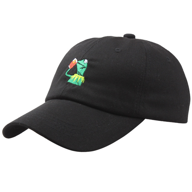 1be6311f168d6 Dad hat 2018 for men Drake Daddy caps KERMIT NONE OF MY BUSINESS  UNSTRUCTURED DAD HATS FROG TEA LEBRON JAMES NEW casquette