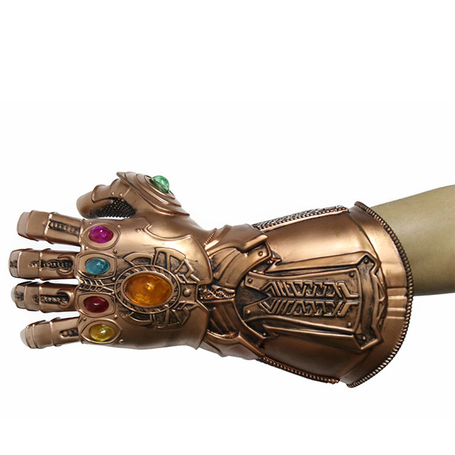 Endgame Thanos Led Infinity Gauntlet Infinity Stones War Led Glove Mask Kids&Adult Halloween Gift Cosplay 2
