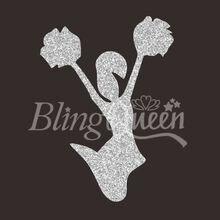 BlingQueen 12 шт/лот на заказ блестящие HTV виниловые передачи черлидер дизайн, цвета и размеры могут быть настроены