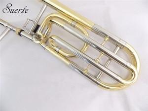 Image 4 - Bb/F Tenor Trombone slide with case mouthpiece Brass Copper trombones Musical instruments