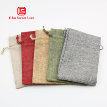 50Pcs/Lot 10*15cm Linen Drawstring Bags Drawstring Pouch Burlap Bags Wedding Birthday Party Gift Bags Jewelry Supplies