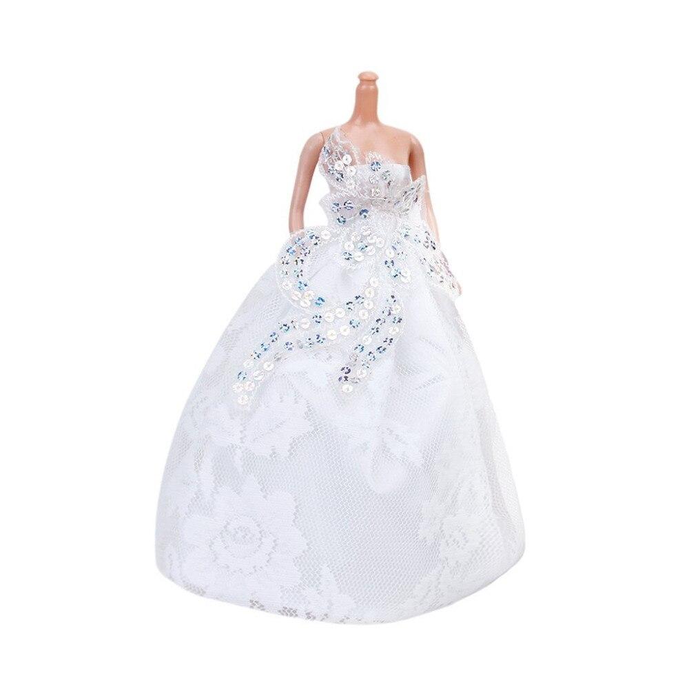 Strapless wedding gown full dress white for barbie doll for Barbie wedding dresses for sale