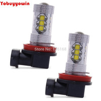 2x Bombilla Faro Headlight H8 H11 80W Decoding Descodificacion LED Super Blanca Lights Luz De Niebla