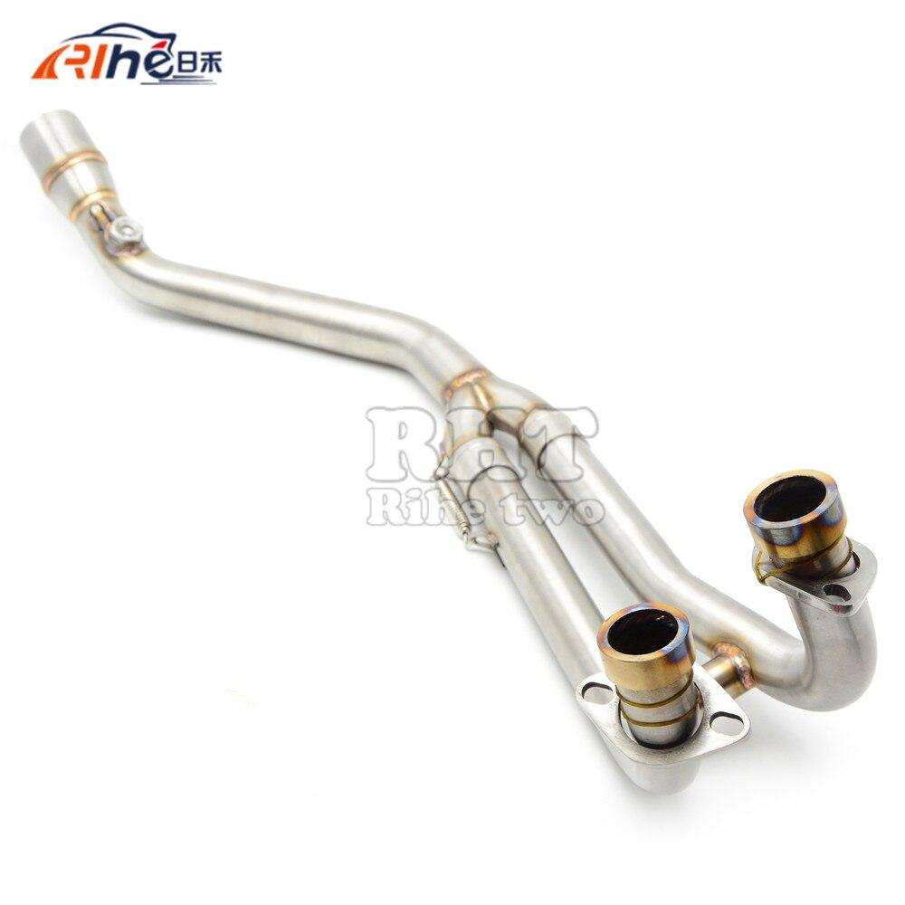 Inoxydable Moto Tuyau D'échappement Moyen tuyau d'échappement de silencieux Pour T-MAX500 T MAX500 TMAX 500 TMAX530 2008 2009 10 12 13 14 15 16