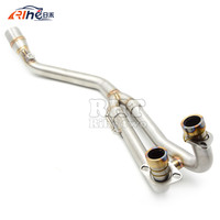 Stainless Motorcycle Exhaust Pipe Middle muffler exhaust pipe For T MAX500 T MAX500 TMAX 500 TMAX530 2008 2009 10 12 13 14 15 16