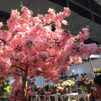 Length 100cm Handmade Decorative Artificial Flower Cherry Party Wedding Hotel Garden Festival DIY Sakura Tree Wreaths