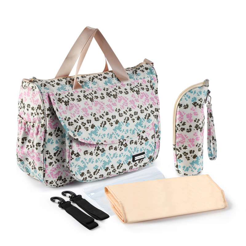 Image 5 - New Print Baby Bag for Stroller Waterproof Diaper Bag for Mom Large Capacity Mommy Nursing Bags Baby Care Maternity BagDiaper Bags   -