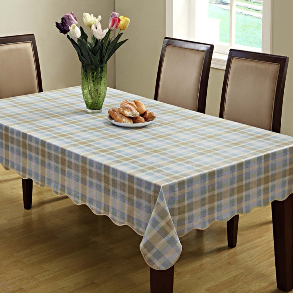 CZ005 Flannel Backed Vinyl Tablecloth Waterproof Oblong Dinner Decoration Table Cover