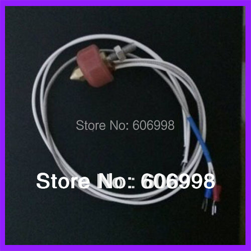0.4mm 12V Nozzle Extruder Heating Print Head With Thermocouple Cable For 3D Printer