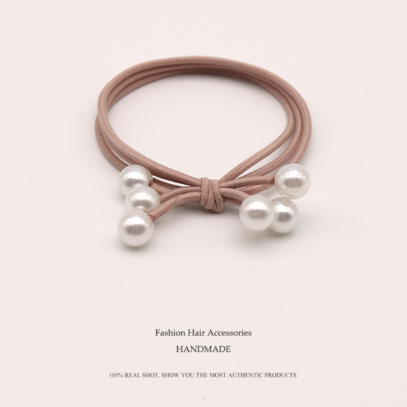 Nylon Rubber Bands Handmade Elastic Hair Bands For Women Three-layer Pearl Cute Rubber tight   Headwear   Accesorios mujer scrunchie