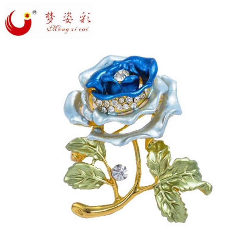 Jeftini Vintage Ženski vjenčani kamen Buket cvijeća maka Kristalni - Modni nakit - Foto 3