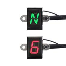 6 Speed Motorcycle Digital Display 1-6 Level Ecu Plug Mount Gear Indicator Waterproof