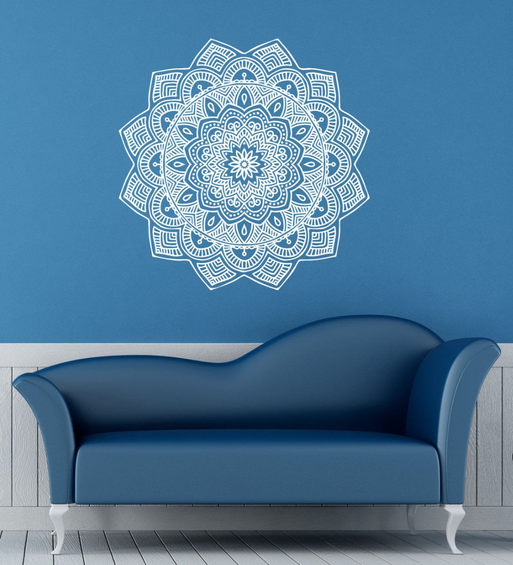 online get cheap wall mural meditation aliexpress com alibaba group 2016 wall mural mandala mantra chakra meditation yoga om vinyl wall sticker home decor wall stickers
