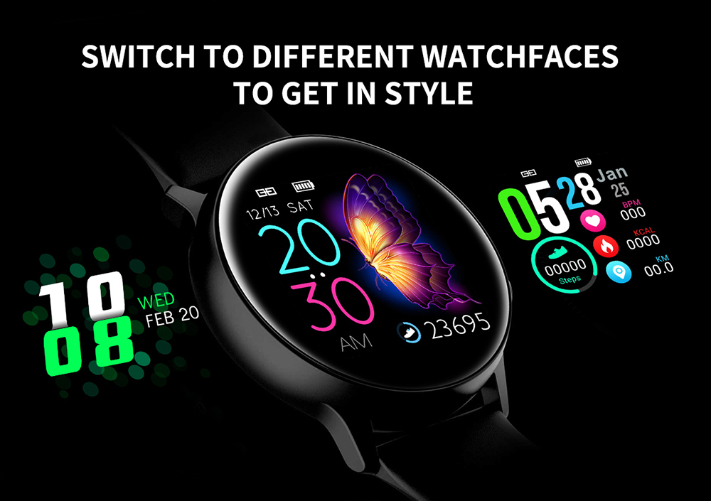 Women IP68 Waterproof Smart Watch for iPhone xiaomi LG with Bluetooth and Heart Rate Monitor Fitness Tracker 13