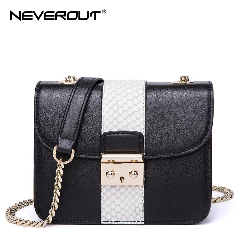 NeverOut Genuine Leather Women Flap Bags Fashion Brand Design Messenger Bags Small Shoulder Bag Sac  Solid Striped Crossbody Bag neverout new crossbody handbag women messenger bag cover small flap bags fashion shoulder bags simply style genuine leather bag