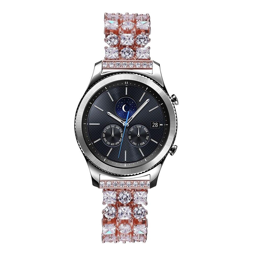 Bracelet en diamant Bling pour Samsung Galaxy Gear S3 bande en acier inoxydable strass frontière classique pour montre galaxie Bracelet 46mm - 2