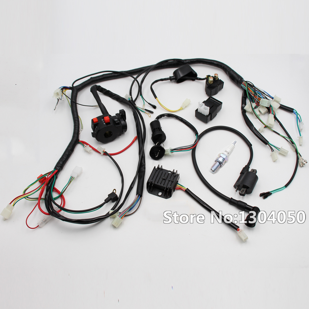 Full Electrics wiring harness loom Solenoid Coil CDI Spark Plug for 200CC  250CC 300cc ATV Quad Bike Buggy Gokart new-in Motorbike Ingition from  Automobiles ...