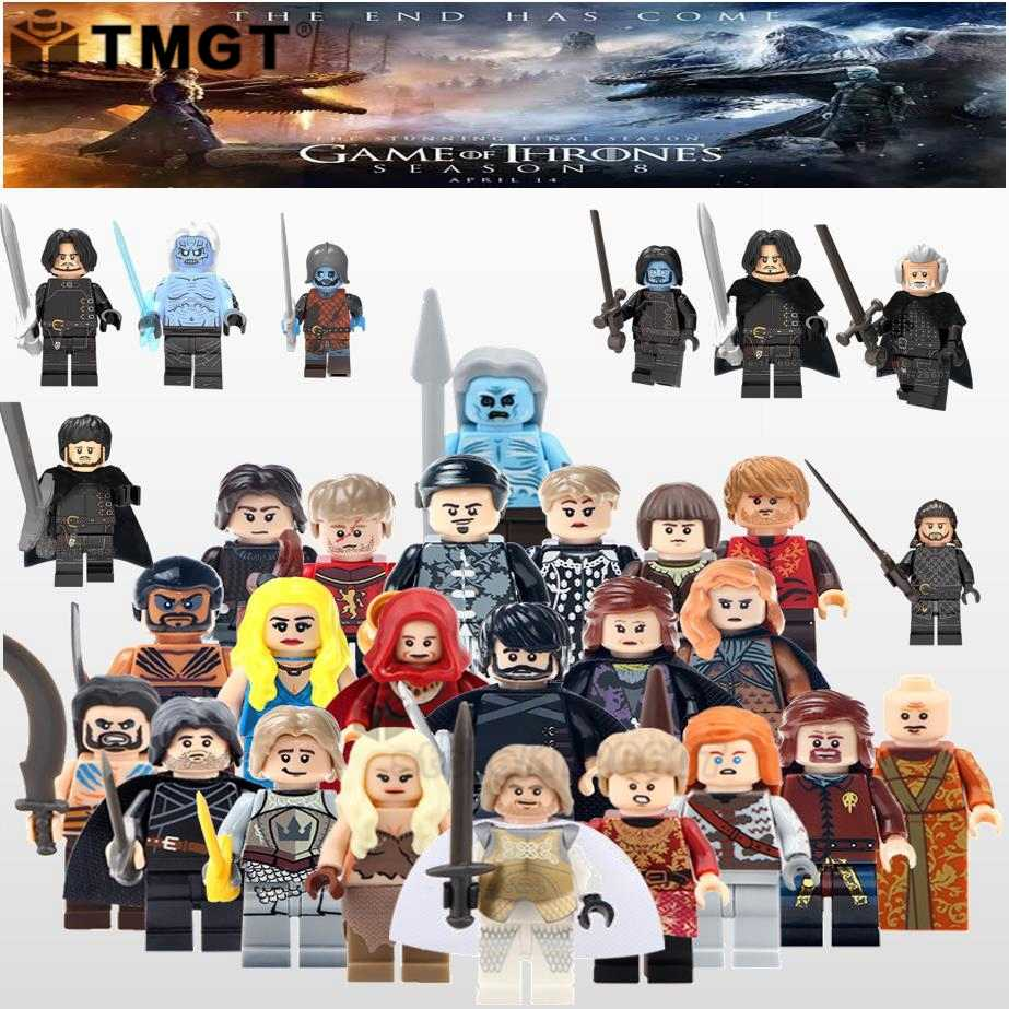 Single Game of Thrones: The Final Season john snow Khal Drogo Tyrion Lannister Building Blocks Collection toys for children gift