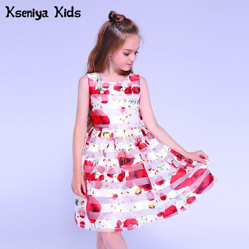 fecaefb4489 Kseniya Kids Flower Girls Dress For Baby Girl Dress Party Dresses For Girls  10 12 Graduation Gowns Children Evening Dresses Kids