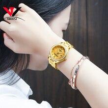 NIBOSI altın İzle kadınlar 2019 lüks marka kadınlar saatler su geçirmez moda elbise elmas kuvars marka bayan bilek saatler Saat