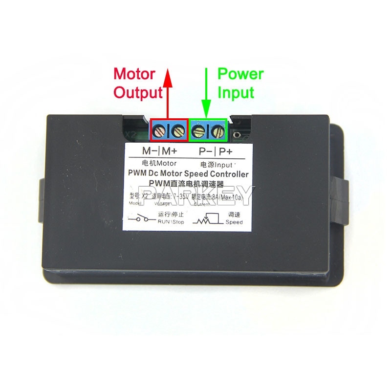 240W Wireless Control 12V 24V DC Motor Speed Controller With Digital ...