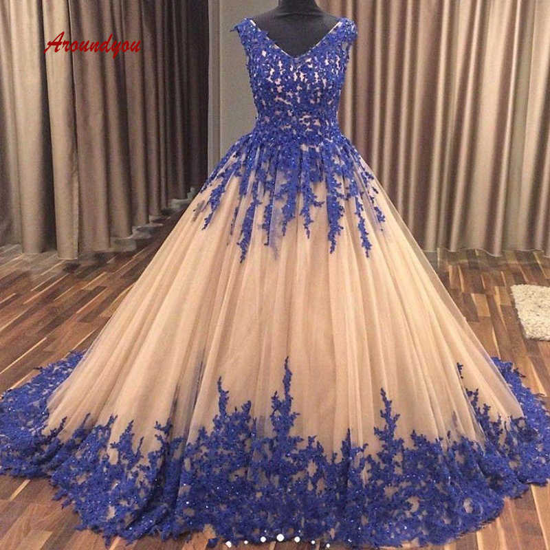 ad99a7f8a4 Champagne Lace Quinceanera Dresses Ball Gown Tulle Crystal Prom Debutante  Sweet 16 Dress vestidos de 15 anos