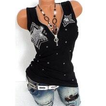 Women Sleeveless Vest Tops Sexy V-neck T-shirt Summer Casual Tunic Tops недорого