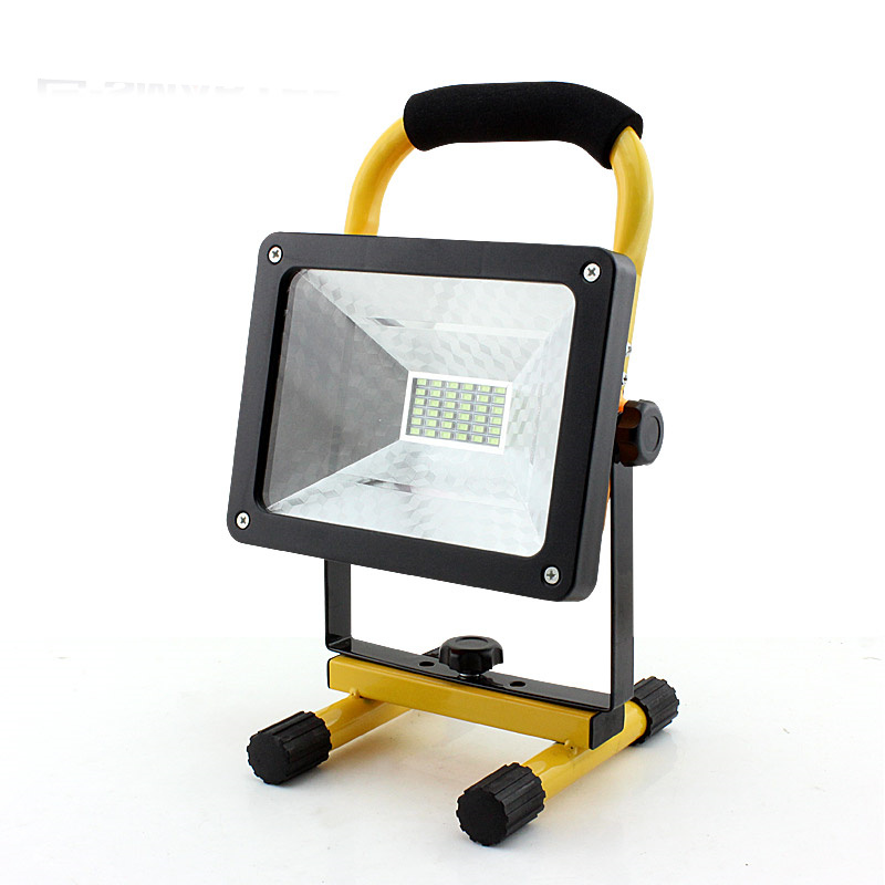 Stalwart Large 60 Led Rechargeable Work Light: 60W Waterproof Rechargeable Floodlight 36 LED Flood Light