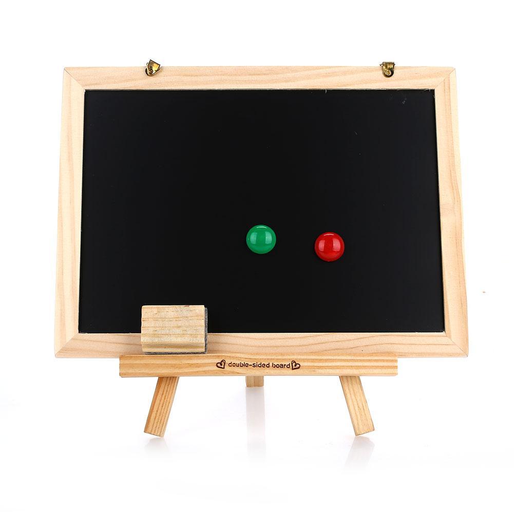 Small Blackboard Sketchpad Sided Blackboard Whiteboard Dual-Purpose Multifunctional WordPad Portable Wood