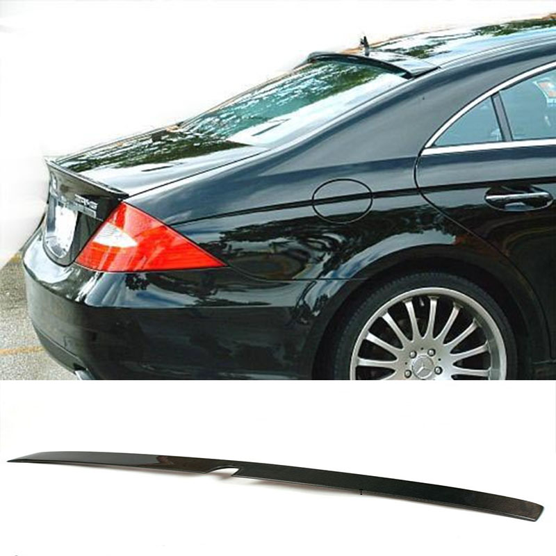 W219 Carbon Fiber  Rear Roof  Lip Spoiler Wing  for Mercedes Benz 2007-2009 c180 c200 c220 c250 c300 replacement part for mercedes c class w205 c63 style carbon fiber rear spoiler wing 2015 benz spoiler