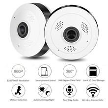 2017 New 960P VR WI-FI Camera 360 Degree Panoramic IP Camera 1.3MP Fisheye Wireless Wifi Smart Camera IR 10M