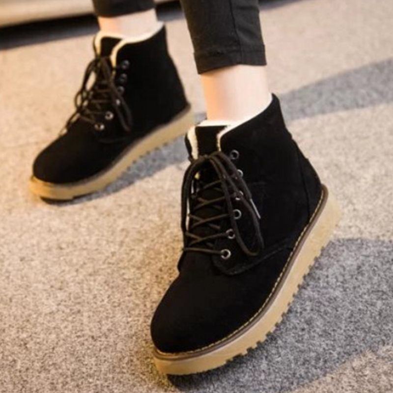 Ms. autumn and winter snow boots warm comfortable wholesale women ladies casual shoes lace-up Martin boots popular DT548