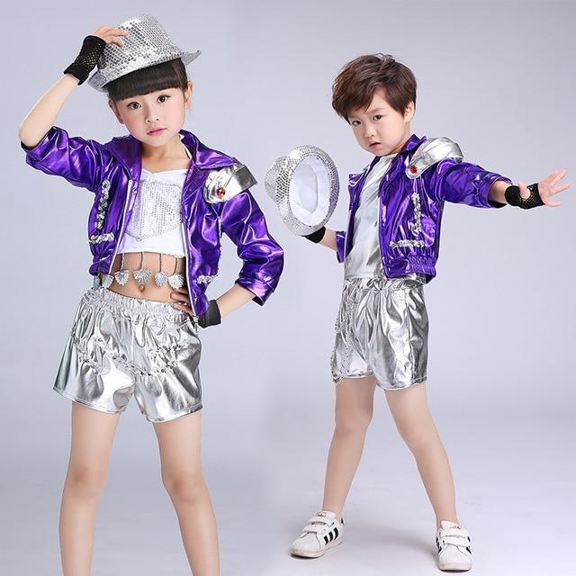 Trajes de baile de Jazz modernos trajes de baile niños luminosos ...