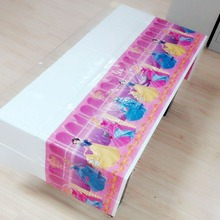 Princess Party Supplies Disposable Tablecloth Kids Birthday Decoration Baby Shower For Kids Girls 108x180cm 1
