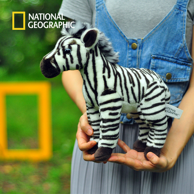 National Geographic Stuffed Animals Plush toy zebra Animal Horse High Quality Cartoon Gift For Children