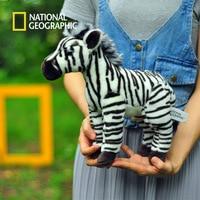 National Geographic Stuffed Animals Plush toy zebra Animal Horse High Quality Cartoon Gift For Children