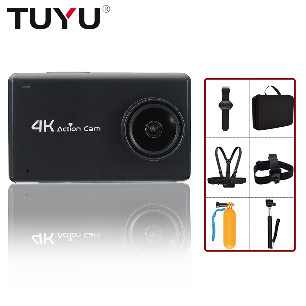 TUYU B1 2.45 inches 4K+ touch screen action camera 4K 30fps Ultra HD 1080p 60fps 16MP Helmet cam waterproof sports camera