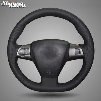 BANNIS Genuine Leather Car Steering Wheel Cover for Toyota Corolla 2011 2012 2013 RAV4 2011 2012